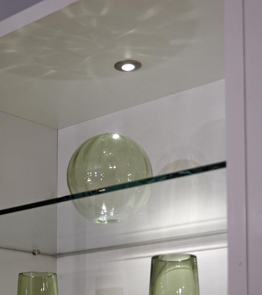 Masterlite Mains Powered Led Cabinet Light Pack Of 3: Sirius Round LED Cabinet Light